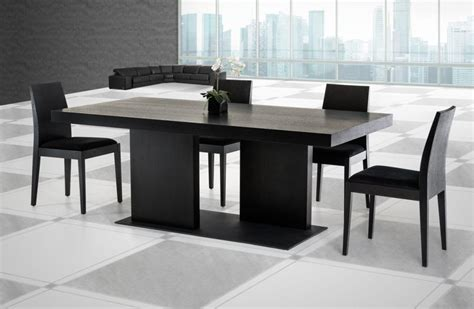 Black Dinner Table by Furniture Louis Black Glass And Steel Dining Collection