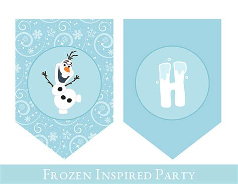 free printable olaf banner frozen birthday banner frozen banner printable birthday