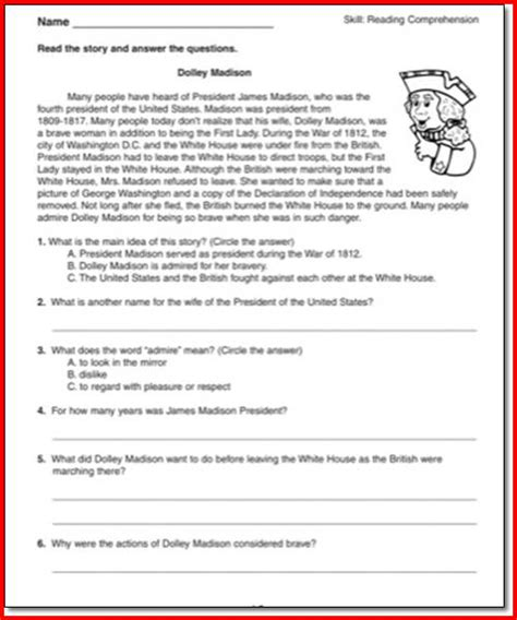 Grade 4 Comprehension Worksheets Free by 28 Reading Comprehension Strategies Worksheets For 4th
