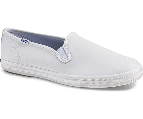 Keds Slip On keds chion slip on leather in white modesens