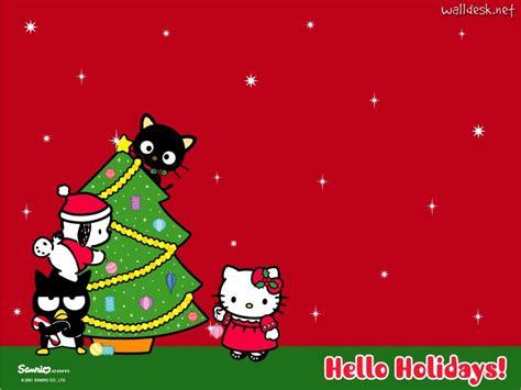 wallpaper hello kitty christmas hello kitty merry christmas wallpaper wallpapersafari