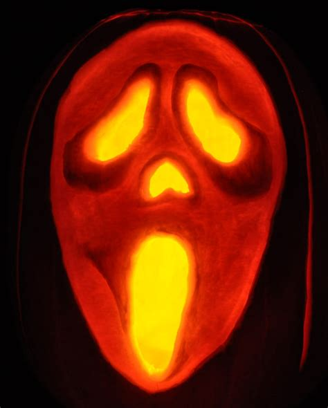 the gallery for gt scream pumpkin stencils