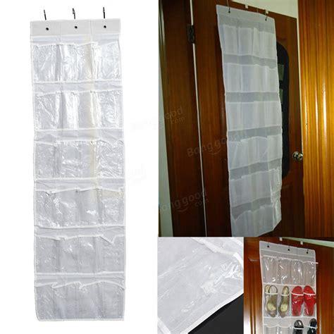 24 white bag closet holder 24pocket hanging door stainless steel holder shoes