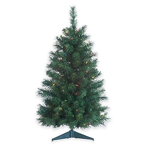 colorado spruce 3 foot pre lit christmas tree with multi