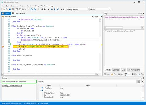 layout java exle b4a the simple way to develop native android apps