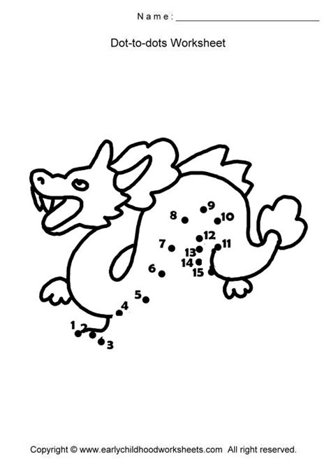 dot to dot dragon printables dragon dot to dot az coloring pages