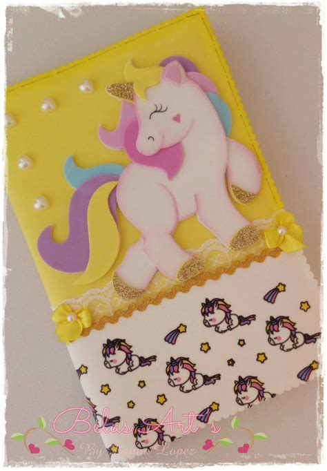 cuadernos decorados de unicornio con foami pin de en pinterest unicornios unicornio y