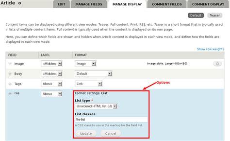 drupal theme ordered list file list formatter drupal org