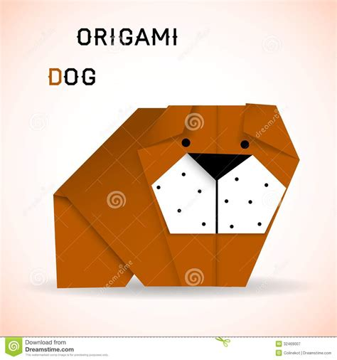 Puppy Origami - origami royalty free stock photography image 32469007