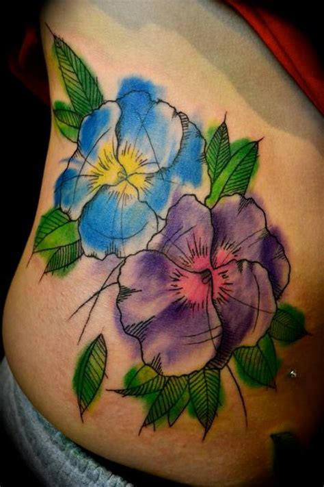 tattoo flower pansy document moved