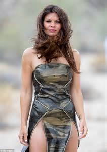 nudge women danielle vasinova in fur bra and snakeskin dress for la