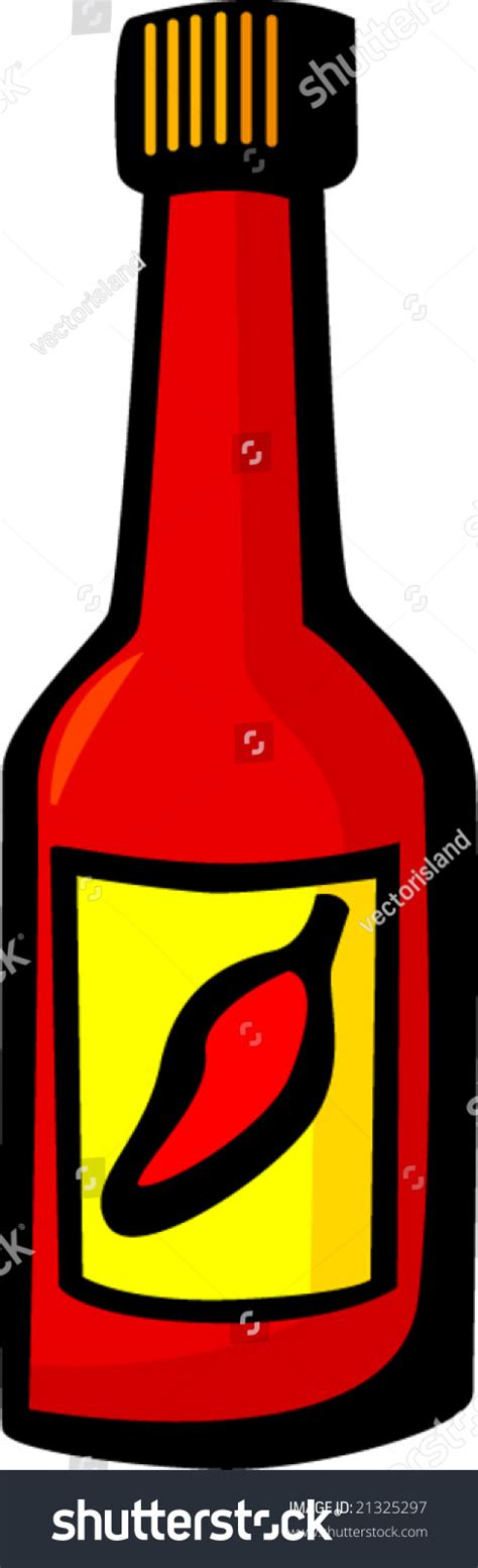 sriracha bottle vector sauce bottle stock vector illustration 21325297