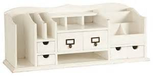 Home Office Desk Organizers Original Home Office Desk Organizer White Traditional Desk Accessories By Ballard Designs