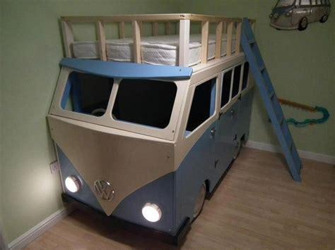vw bus bed epic vw kombi cervan bunk beds love the working lights