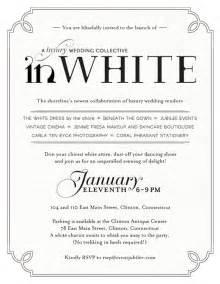 all white invitations cloveranddot