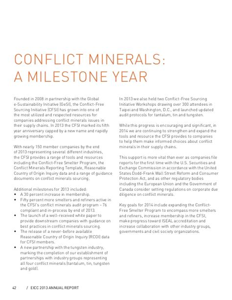 eicc conflict minerals reporting template conflict minerals management software environmental cfsi