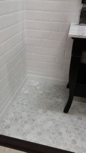 marble hex tile bathroom floor this would be so great for a standing shower carrera marble hexagon tile floor and