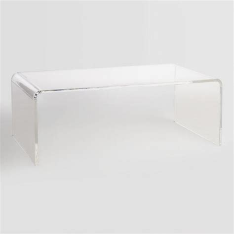 benches clear clear acrylic thad coffee table world market