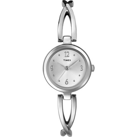 Timex T2N838 Women's Everyday Dress Silver Bracelet Watch T2N838   Timex from British Watch