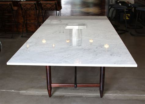 stone top dining table solid rosewood dining table with marble top by sergio