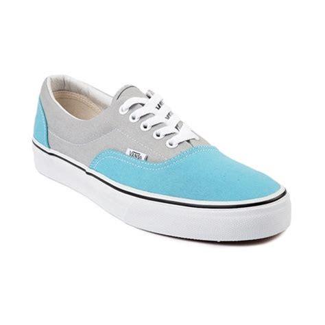 light blue womens vans shoes shop for vans era skate shoe in gray light blue at
