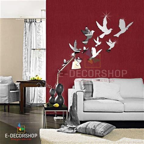dekor schablonen wand dekorative wand spiegel uhr zu jedem dekor passend