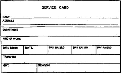 service card selection and employment of workmen