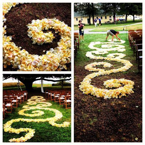 Wedding Aisle Flower Petal Designs by Flower Petal Aisle Flowerkiosk