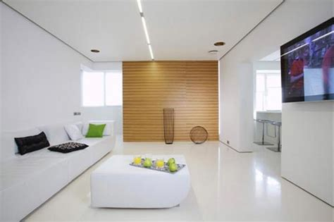 Small Apartment White Interior Moderne Woonkamer In Moskou Interieur Inrichting