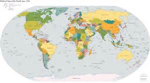 To Scale World Map by Maps Of The World World Maps Political Maps