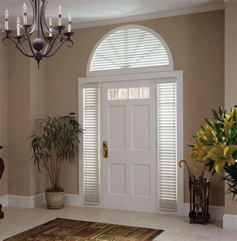 door half window curtains half moon window covering with only door no side panels