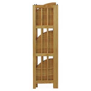 folding corner bookcase wood corner bookcase 4 tier folding book storage shelf