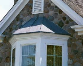 bow window roof taper style copper bay window concord sheet metal