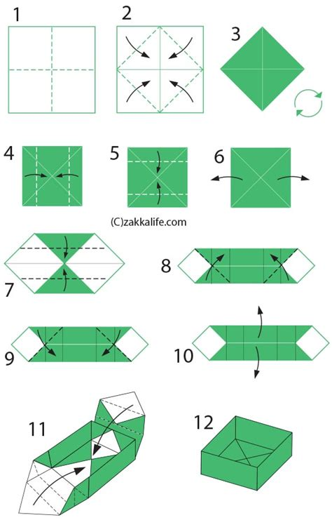 Origami Directions - diy origami box with a printable