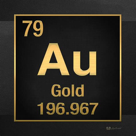 Periodic Table Gold by Periodic Table Of Elements Gold Au Gold On Black