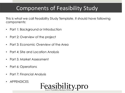 feasibility study template small business feasibility study template
