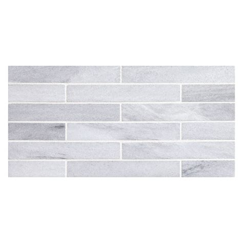 tile pattern staggered brick 1 quot x 6 quot staggered mosaic honed asher marble