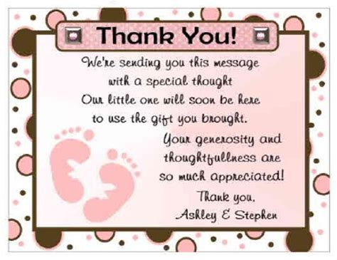 thank you phrases for baby shower 20 polkadot baby baby shower thank you cards ebay