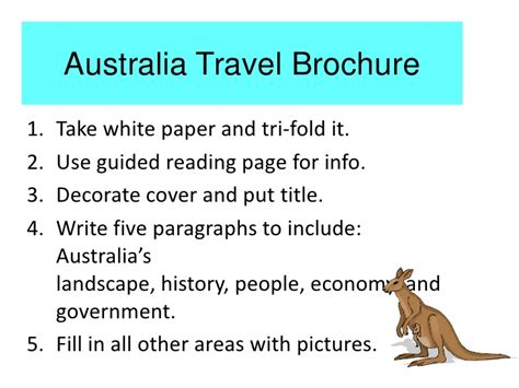 How To Make A Travel Brochure On Paper - australia travel brochure