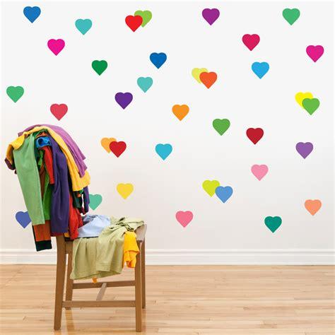 Talenan Lukis Custom Wall Decor Hiasan Rumah 36 rainbow hearts wall decals removable and reusable