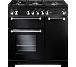 Rangemaster Kitchener 90 Dual Fuel buy rangemaster kitchener 90 dual fuel range cooker black free delivery currys