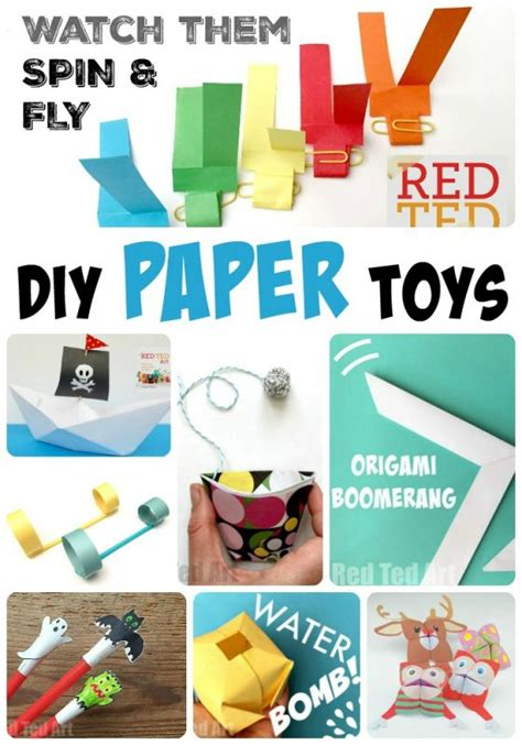 How To Make Toys With Paper - diy paper toys ted s