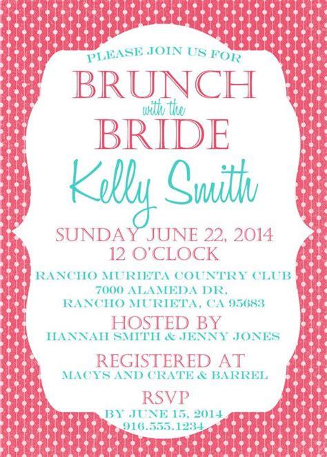 free printable bridal shower brunch invitations printable polka dot bridal shower brunch invitation by