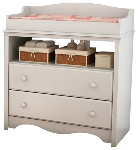 South Shore White Changing Table South Shore Andover Changing Table In White Traditional Changing Tables By Cymax
