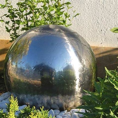 Solar Powered Water Features With Led Lights Aqua Moda Aterno4 45cm Solar Stainless Steel Sphere Garden