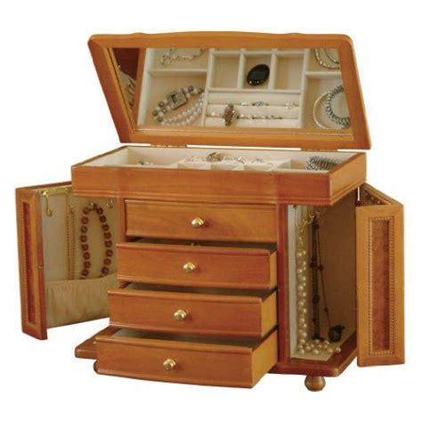 jewelry box oak dresser storage furniture necklaces