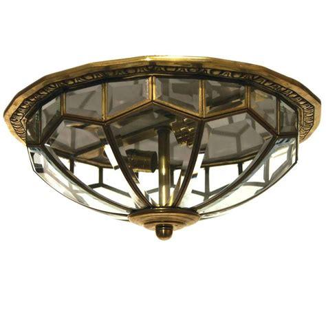 mid century flush mount lighting mid century glass flush mount light fixture at 1stdibs