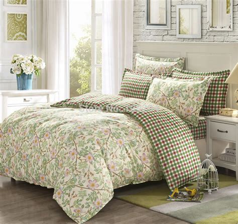 100 cotton 4pcs full queen bedding set country style