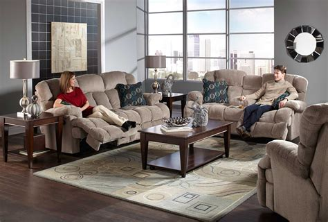 sofas for less concord catnapper concord lay flat reclining sofa set smoke cn