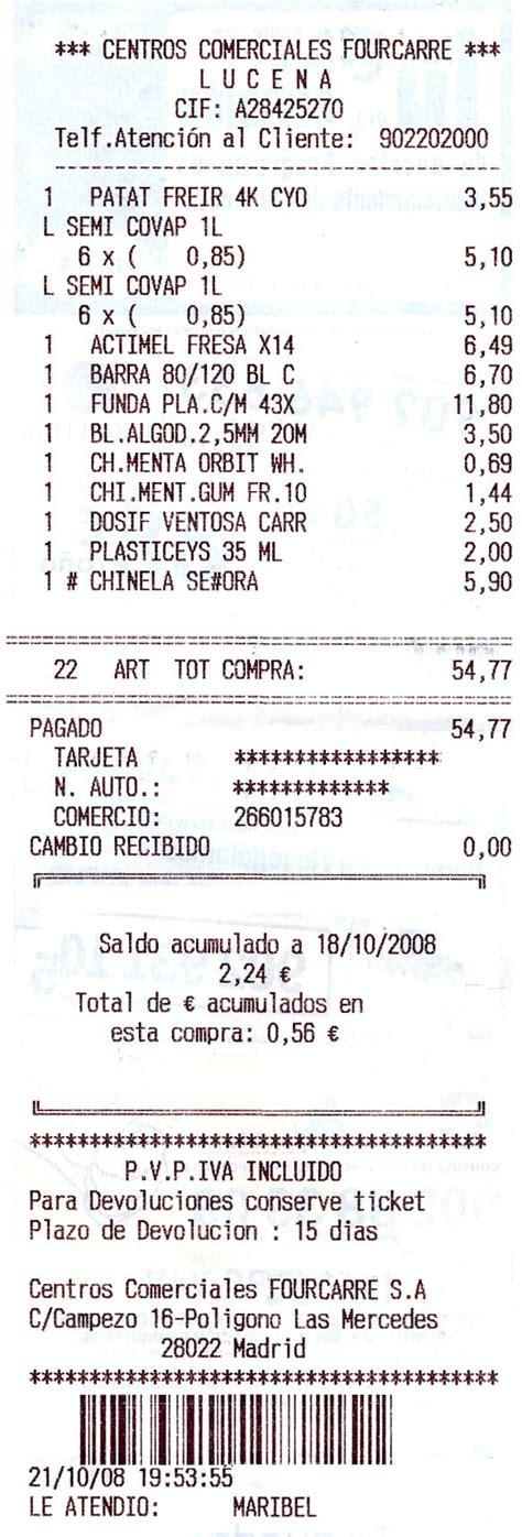 ejemplo de ticket de compra los ticket de compra y las competencias b 225 sicas actiludis